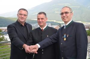 v. l. Vizepräsident Horst Baumgartner, Präsident Erich Rieger und Vizepräsident Dr. Friedrich Anzenberger.