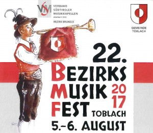 VSM Bezirk Bruneck - Bezirksmusikfest 2017 (Logo) 2