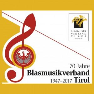 2017-10-21 Tag der Tiroler Blasmusik - Landesmusikfest 2017 in Innsbruck (Logo 70 Jahre Blasmusikverband Tirol 1947-2017) 4x4