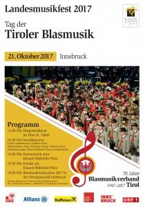 2017-10-21 Tag der Tiroler Blasmusik - Landesmusikfest 2017 in Innsbruck (Plakat)