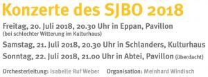 SJBO 2018 - Konzerttermine